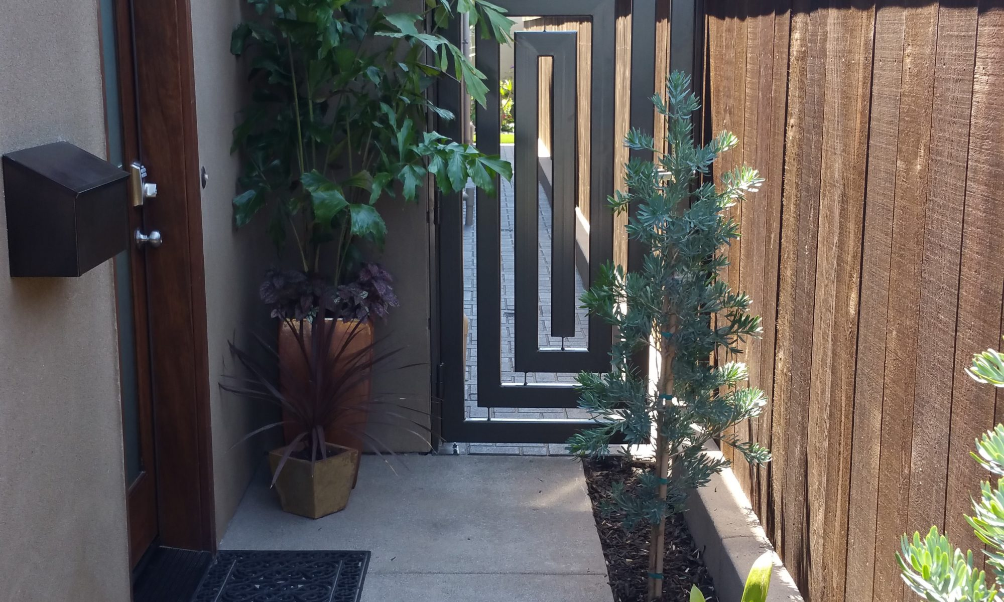 Contemporary Garden Gate